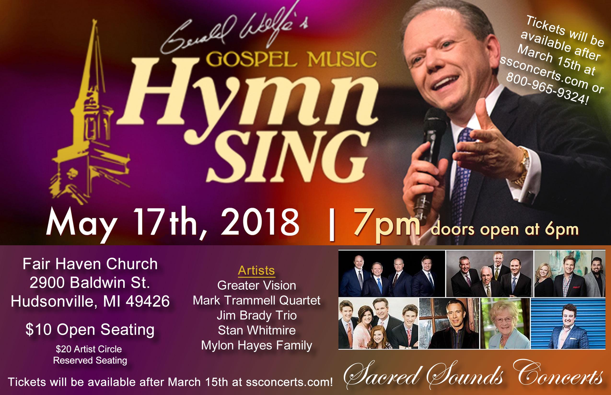 Gerald Wolfe Hymn Sing