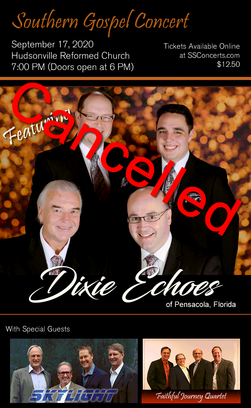 Dixie Echoes Concert Cancelled